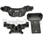 HaiBoXing 12813 Parts-06-02 Front and Rear shockproof board,Shock Absorbers board