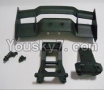 HaiBoXing 12813 Parts-07 12606 Tail wing & Tail wing frame & Column for the Car canopy(For Off-road vehicles)
