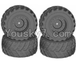 HaiBoXing 12813 Parts-12-01 12621 Wheels Complete(4PCS)-(Include the Wheel hub and Tire lether)