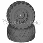 HaiBoXing 12813 Parts-12-02 12621 Wheels Complete(2PCS)-(Include the Wheel hub and Tire lether)