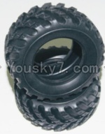 HaiBoXing 12813 Parts-12-03 12057 Tire lether-2pcs