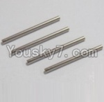 HaiBoXing 12813 Parts-17 12614 (Front and Rear)Lower swing arm,(Front and Rear)Lower Suspension Hinge Pins(4pcs)-2.5X36mm