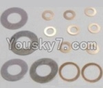 HaiBoXing 12813 Parts-20 12617 Washers-4PCS(φ6.3X12.5X0.2mm) & Washers-8PCS(φ2.7X5.5X0.3mm) & Washers-2PCS(φ8.2X10.5X0.3mm)