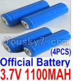HaiBoXing 12813 Parts-22-02 12619A Official 3.7V 1100mAH Battery(Li-ion Batteries)-4pcs