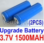HaiBoXing 12813 Parts-22-03 12633 Official 3.7V 1500mAH Battery(Li-ion Batteries)-2pcs