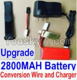 HaiBoXing 12813 Parts-22-03 Upgrade 7.4V 2800MAH Battery & Charger & Conversion wire & Magic straps