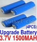 HaiBoXing 12813 Parts-22-04 12633 Official 3.7V 1500mAH Battery(Li-ion Batteries)-4pcs