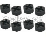 HaiBoXing 12813 Parts-29 12010 Hexagon Wheel Seat(4pcs)