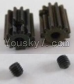 HaiBoXing 12813 Parts-32 12026 Motor Pinion Gears 13T(13 Teeth)& Set Screws-3X3mm(2pcs)