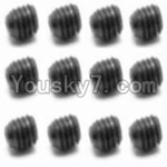 HaiBoXing 12813 Parts-38 S016 Set Screw-3X3mm(12PCS)
