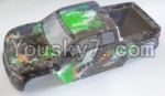 HaiBoXing 12813 Parts-54-06 12688 Truck Body shell,Car shell-Green