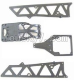 HBX 12881P Parts-02-01 12002P Front side panel & motor cover & upper Steering seat