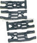 HBX 12881P Parts-04 12004 Front Bottom And Rear Bottom Suspension Arms,Front Bottom And Rear Bottom Swing Arm(Total 4PCS)