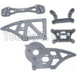 HBX 12881P Parts-06 12006 Chassis Side Plates B & Shock Absorbers board
