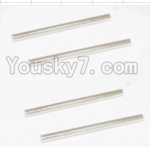 HaiBoXing 12881P Parts-24 12023 Rear Bottom Suspension Arms Pin(4pcs)-2.5X37.6mm