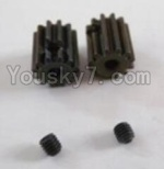 HBX 12881P Parts-33-01 12026 Motor Pinion Gears(2pcs)-13Teeth & Set Screws-3X3mm(2pcs)