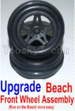 HBX 12881P Parts-44-02 12117 Upgrade Front Beach Wheels assembly(2 set)