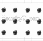 HaiBoXing 12881P Parts-54 S016 Set Screw(12pcs)-3X3mm