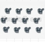 HBX 12881P Parts-71 S164 Flange Head Self Tapping Screws(12pcs)-2X6mm