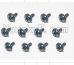 HaiBoXing 12881P Parts-74 S167 Flange Head Self Tapping Screws(12pcs)-2.3X8mm
