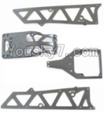 HaiBoXing 12882P Parts-02-01 12002P Front side panel & motor cover & upper Steering seat