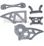 HaiBoXing 12882P Parts-06 12006 Chassis Side Plates B & Shock Absorbers board