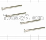 HaiBoXing 12882P Parts-22 12021 Front Upper Suspension Arms Pin(4pcs)-3.3X30mm