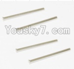 HaiBoXing 12882P Parts-23 12022 Rear Upper Suspension Arms Pin(4pcs)-2.5X38mm