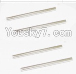 HaiBoXing 12882P Parts-24 12023 Rear Bottom Suspension Arms Pin(4pcs)-2.5X37.6mm