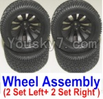 HaiBoXing 12882P Parts-43-01 12056 Official Left and Right wheel assembly(4 set)