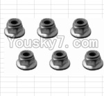 HaiBoXing 12882P Parts-48 H003 M4 Flange Lock Nut(6pcs)