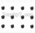 HaiBoXing 12882P Parts-54 S016 Set Screw(12pcs)-3X3mm