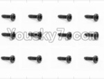 HaiBoXing 12882P Parts-55 S018 Pan Head Self Tapping Screw(12pcs)-2.6X8mm