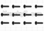 HaiBoXing 12882P Parts-56 S020 Countersunk Self Tapping Screw(12pcs)-2.6X8mm