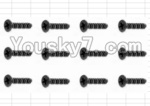 HaiBoXing 12882P Parts-59 S061 Countersunk Self Tapping Screw(12pcs)-2.6X6mm