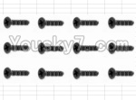 HaiBoXing 12882P Parts-60 S062 Countersunk Screw(12pcs)-3X10mm