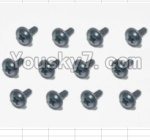 HaiBoXing 12882P Parts-71 S164 Flange Head Self Tapping Screws(12pcs)-2X6mm