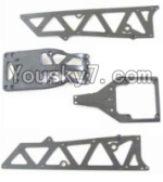 HBX 12883P Parts-02-01 12002P Front side panel & motor cover & upper Steering seat