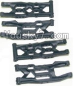 HBX 12883P Parts-04 12004 Front Bottom And Rear Bottom Suspension Arms,Front Bottom And Rear Bottom Swing Arm(Total 4PCS)