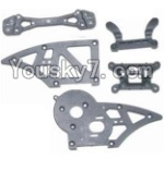 HBX 12883P Parts-06 12006 Chassis Side Plates B & Shock Absorbers board