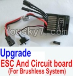 HBX 12883P Parts-34-02 12216 Upgrade Brushless ESC and Circuit board