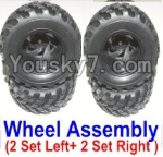 HBX 12883P Parts-43-01 12059 Official Left and Right wheel assembly(4 set)