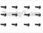 HaiBoXing 12883P Parts-55 S018 Pan Head Self Tapping Screw(12pcs)-2.6X8mm
