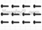 HaiBoXing 12883P Parts-56 S020 Countersunk Self Tapping Screw(12pcs)-2.6X8mm
