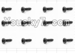 HaiBoXing 12883P Parts-57 S029 Round Head Self Tapping Screw(12pcs)-2.6X10mm