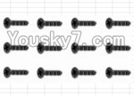 HaiBoXing 12883P Parts-59 S061 Countersunk Self Tapping Screw(12pcs)-2.6X6mm