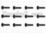 HaiBoXing 12883P Parts-60 S062 Countersunk Screw(12pcs)-3X10mm
