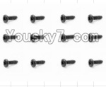 HaiBoXing 12883P Parts-68 S161 Round Head Self Tapping Screws(12pcs)-2.6X12mm