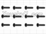 HaiBoXing 12883P Parts-69 S162 Countersunk Self Tapping Screw(12pcs)-2.6X18mm