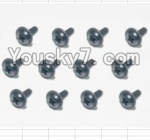 HaiBoXing 12883P Parts-71 S164 Flange Head Self Tapping Screws(12pcs)-2X6mm